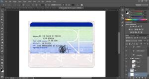 France Id Card Editable Psd Template (Photoshop Template in French Id Card Template