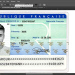 France Id Card Editable Psd Template (Photoshop Template inside French Id Card Template