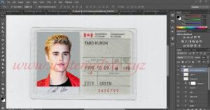 France Id Card Editable Psd Template (Photoshop Template regarding French Id Card Template