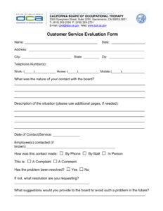 Free 14+ Customer Service Evaluation Forms | Pdf with regard to Blank Evaluation Form Template