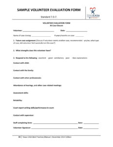 Free 14+ Volunteer Evaluation Forms | Pdf pertaining to Blank Evaluation Form Template