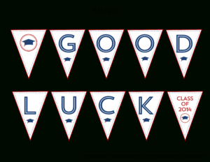 Free 2014 Graduation Party Printables From Printabelle with regard to Good Luck Banner Template