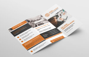 Free 3-Fold Brochure Template For Photoshop & Illustrator for Adobe Illustrator Brochure Templates Free Download