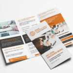 Free 3 Fold Brochure Template For Photoshop & Illustrator In Illustrator Brochure Templates Free Download