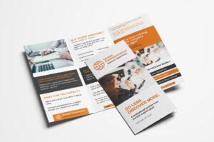 Free 3-Fold Brochure Template For Photoshop & Illustrator inside Card Folding Templates Free