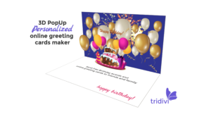 Free 3D Pop Up Online Greeting Card Maker – Tridivi™ pertaining to Happy Birthday Pop Up Card Free Template