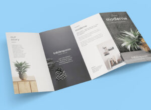 Free 4-Panel Quad-Fold Brochure Mockup Psd – Good Mockups for Quad Fold Brochure Template