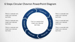 Free 6 Steps Circular Chevron Powerpoint Diagram regarding Powerpoint Chevron Template