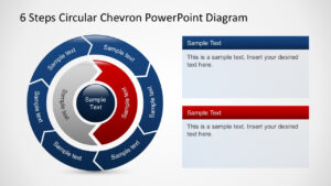 Free 6 Steps Circular Chevron Powerpoint Diagram with Powerpoint Chevron Template