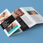Free Accordion 4 Fold Brochure / Leaflet Mockup Psd Inside 2 Fold Brochure Template Psd