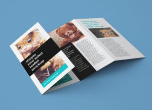 Free Accordion 4-Fold Brochure / Leaflet Mockup Psd inside 2 Fold Brochure Template Psd