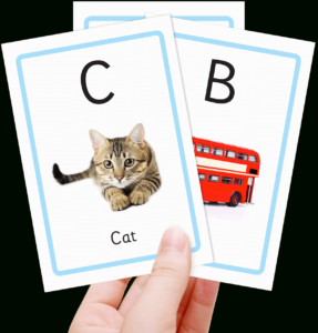 Free Alphabet Flashcards For Kids – Totcards With Free Printable Flash Cards Template