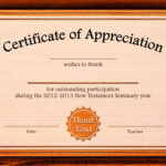 Free Appreciation Certificate Templates Supplier Contract Regarding Free Certificate Of Excellence Template