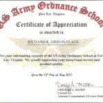 Free Army Certificate Of Appreciation Example Hadipalmexco Inside Certificate Of Achievement Army Template