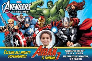 Free Avengers Birthday Invitation | Dioskouri Designs intended for Avengers Birthday Card Template