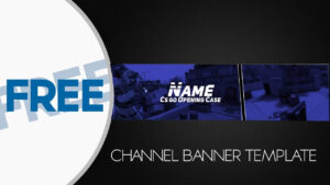Free Banner Template Gimp #2 In Gimp Youtube Banner Template
