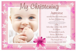 Free Baptism Invitation Templates Printable pertaining to Free Christening Invitation Cards Templates