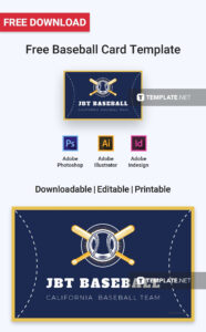 Free Baseball Card | Card Templates & Designs 2019 With Baseball Card Template Word