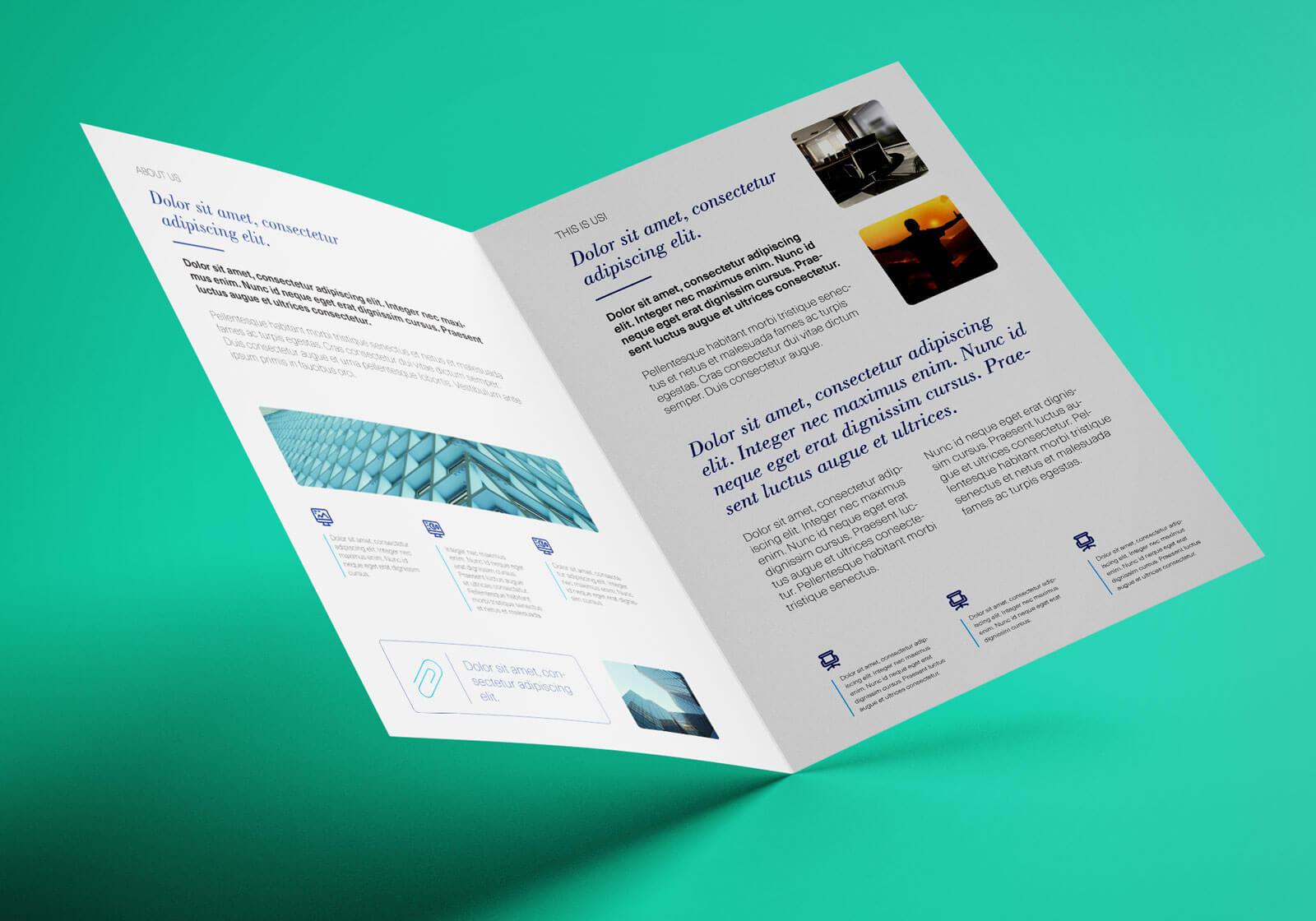 Free Bi Fold A4 Brochure Mockup Psd - Good Mockups With Regard To 2 Fold Brochure Template Psd