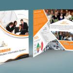Free Bi Fold Brochure Psd On Behance For Two Fold Brochure Template Psd