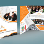 Free Bi Fold Brochure Psd On Behance Inside 2 Fold Brochure Template Psd