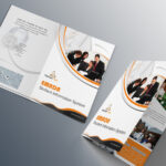 Free Bi-Fold Brochure Psd On Behance pertaining to Two Fold Brochure Template Psd