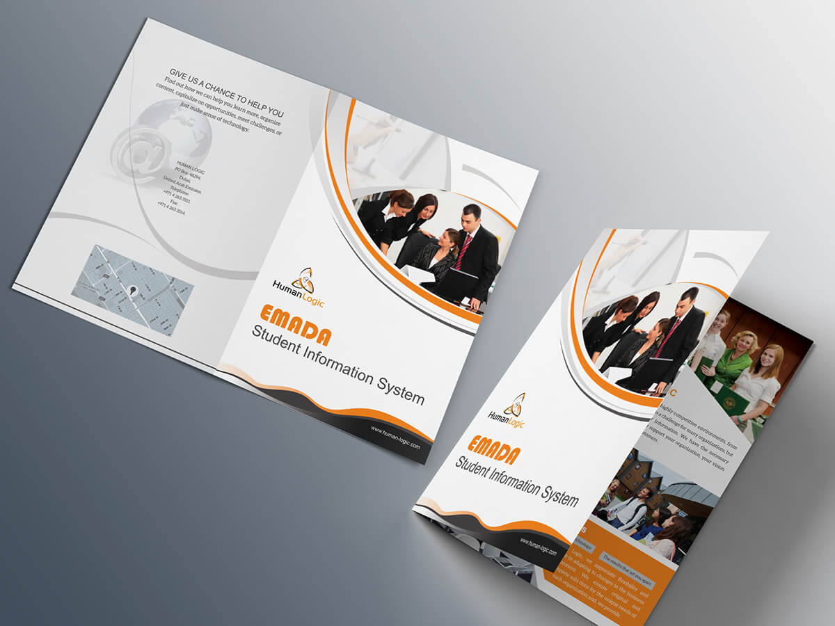 Free Bi Fold Brochure Psd On Behance Pertaining To Two Fold Brochure Template Psd