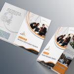 Free Bi Fold Brochure Psd On Behance Regarding 2 Fold Brochure Template Psd