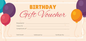 Free Birthday Gift Certificate Templates | Certificate throughout Track And Field Certificate Templates Free