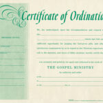 Free Blank Certificate Of Ordination | Ordination For in Free Ordination Certificate Template