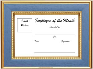 Free Blank Employee Of The Month Certificate #1956 pertaining to Employee Of The Month Certificate Templates