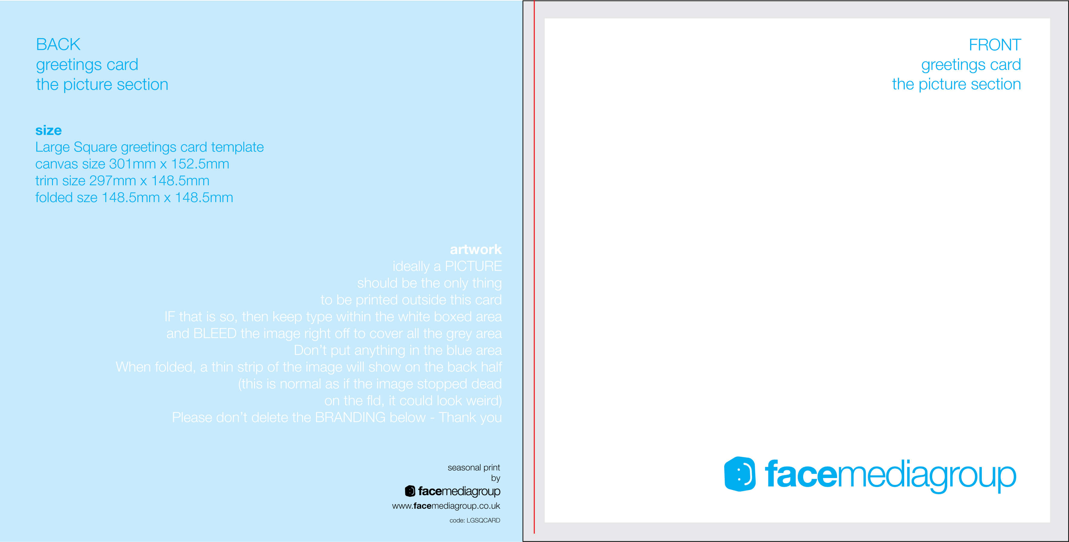 Free Blank Greetings Card Artwork Templates For Download Intended For Small Greeting Card Template