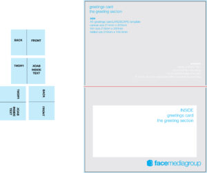 Free Blank Greetings Card Artwork Templates For Download pertaining to Card Folding Templates Free