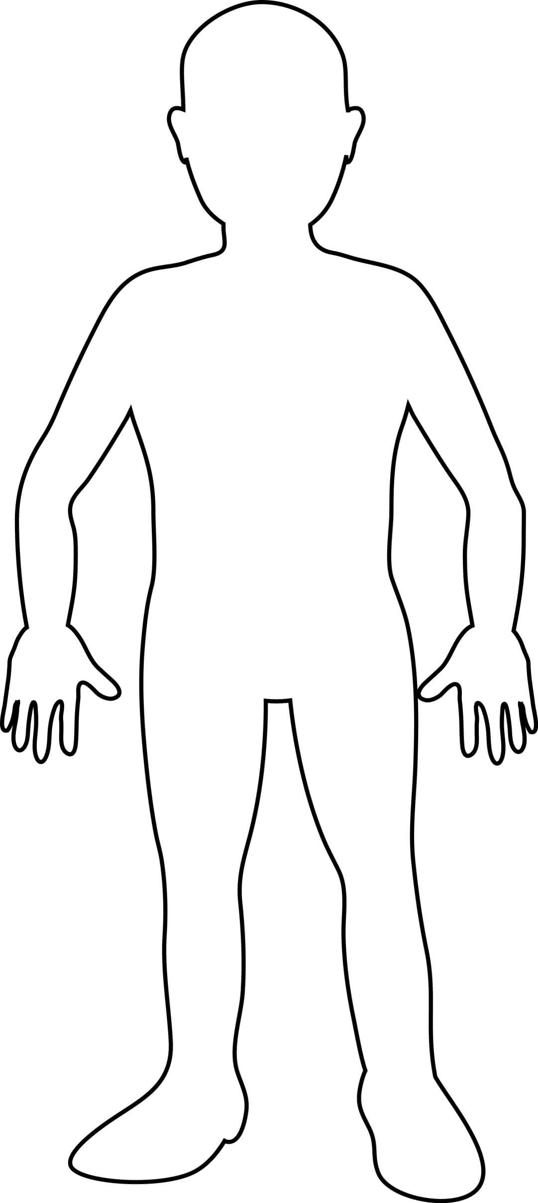 Free Blank Person Outline, Download Free Clip Art, Free Clip With Blank Body Map Template