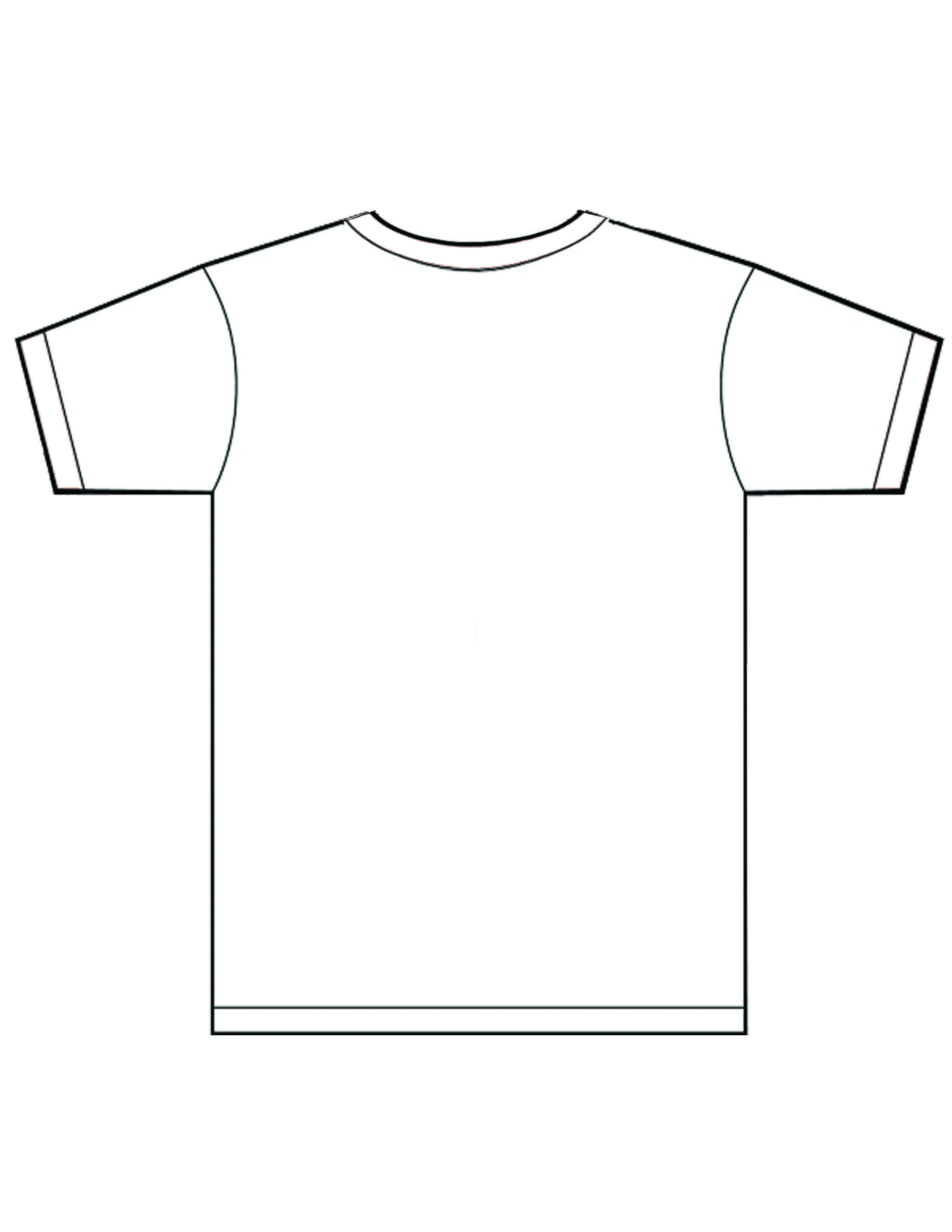 Free Blank White T Shirt Template – Dreamworks With Printable Blank Tshirt Template