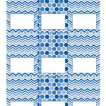 Free Blue And White Printable Tent Cards   Free Printables Inside Free Printable Tent Card Template