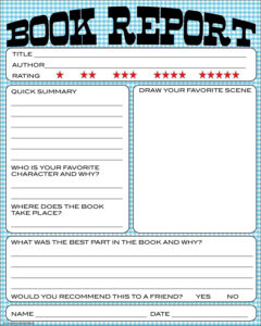 Free Book Report Printable – Great For Lower Primary Grades inside Quick Book Reports Templates