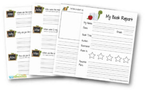 Free Book Report Template | 123 Homeschool 4 Me pertaining to Book Report Template Grade 1