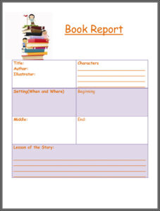 Free Book Report & Worksheet Templates – Word Layouts regarding Story Report Template