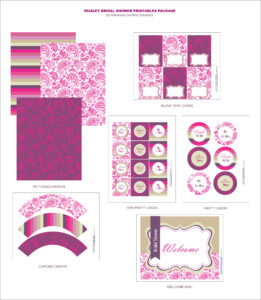Free Bridal Shower Printables From Wanessa Carolina pertaining to Free Bridal Shower Banner Template