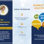 Free Brochure Maker  Create Custom Brochure Online | Photoadking Regarding Online Brochure Template Free