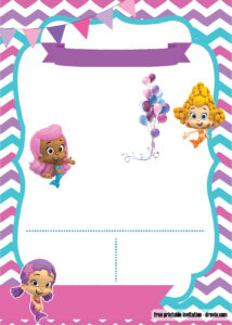 Free Bubble Guppies Invitation | Free Printable Birthday intended for Bubble Guppies Birthday Banner Template