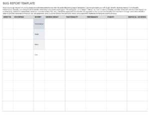 Free Bug Report Templates And Forms | Smartsheet pertaining to Bug Summary Report Template