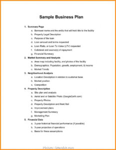 Free Business Plan Template Word Document Nonprofit Sample within Business Plan Template Free Word Document