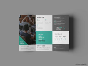 Free Business Trifold Brochure Template (Ai) pertaining to Tri Fold Brochure Ai Template