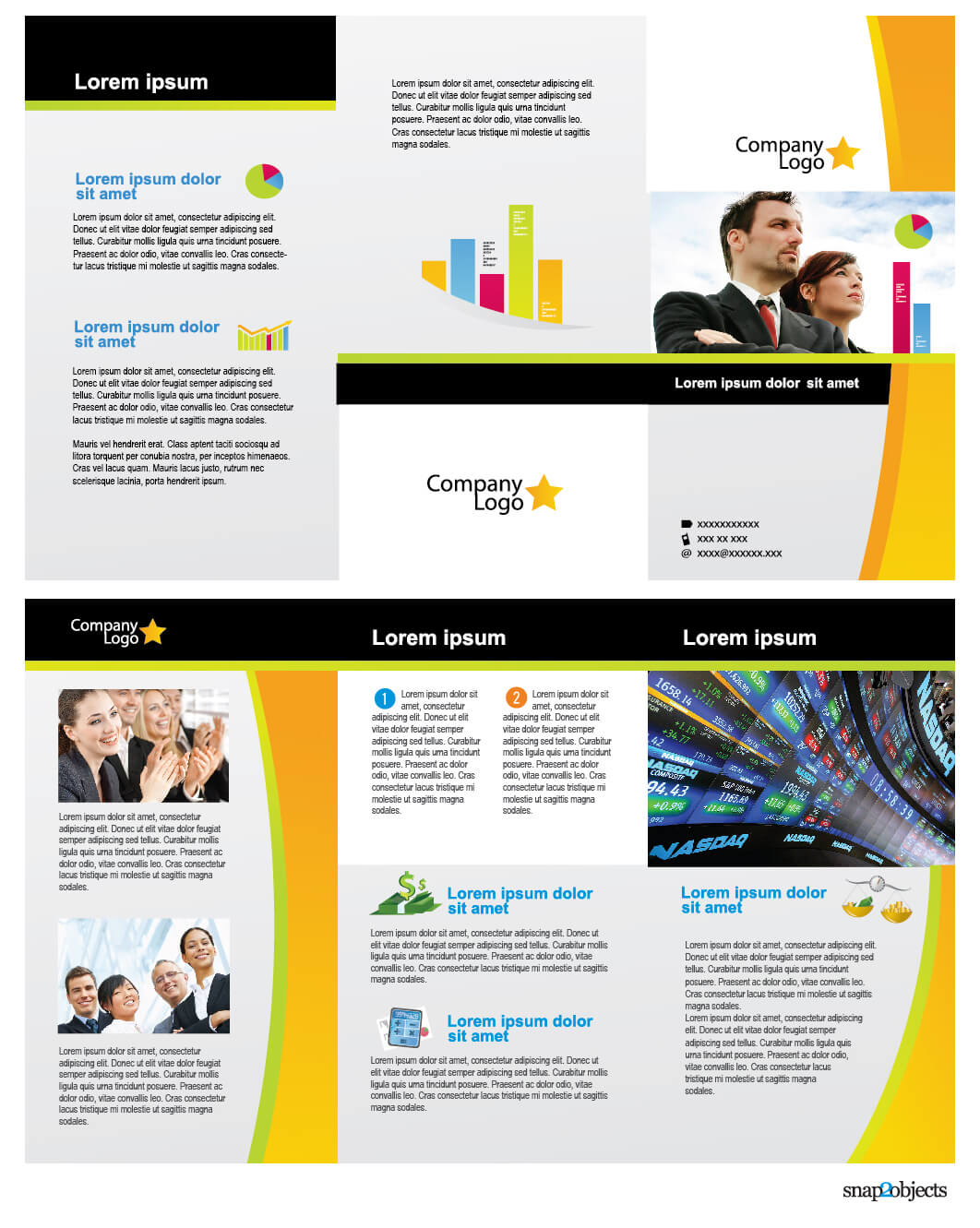 Free Business Vector Brochure Template In Illustrator   Free Pertaining To Brochure Template Illustrator Free Download
