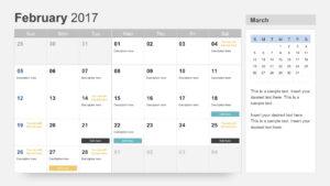 Free Calendar 2017 Template inside Microsoft Powerpoint Calendar Template