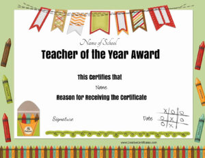 Free Certificate Of Appreciation For Teachers | Customize Online inside Teacher Of The Month Certificate Template