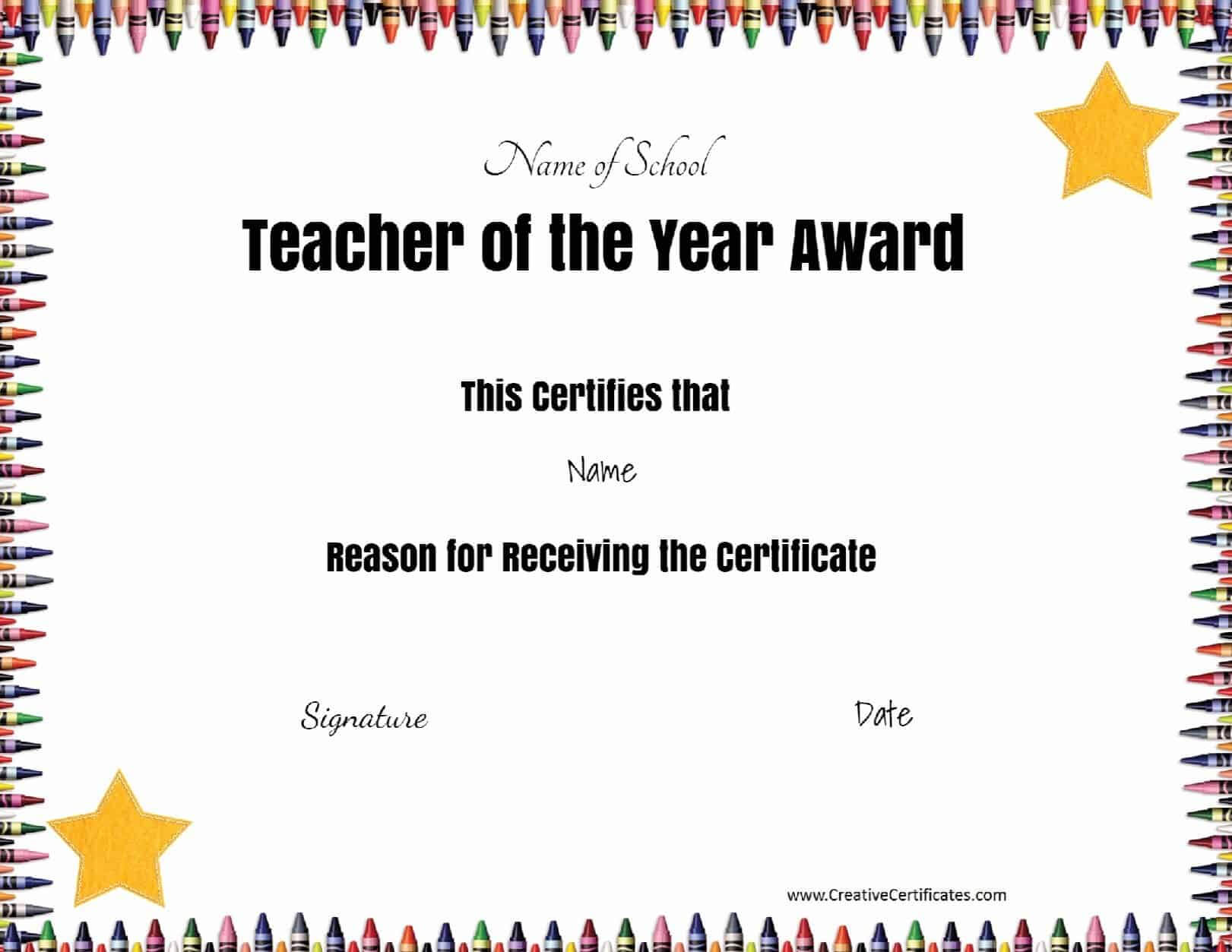 Free Certificate Of Appreciation For Teachers | Customize Online Throughout Best Teacher Certificate Templates Free
