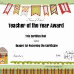 Free Certificate Of Appreciation For Teachers | Customize Online With Best Teacher Certificate Templates Free
